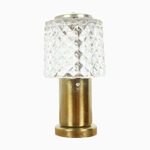 Mid-Century Crystal Table Lamp from Kamenicky Senov, 1970s