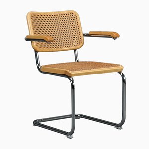 Beech 64V Cantilever Chair by Marcel Breuer for Thonet, 1990s