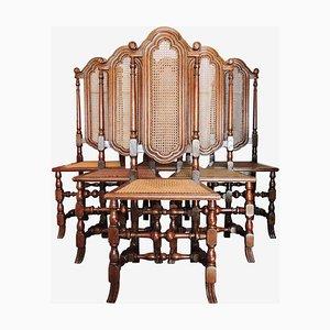 George I Style Esszimmerstühle mit Hoher Rückenlehne von Gill & Reigate, London, 6er Set