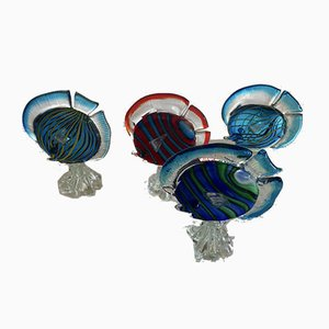 Vintage Murano Glass Fish, Set of 4