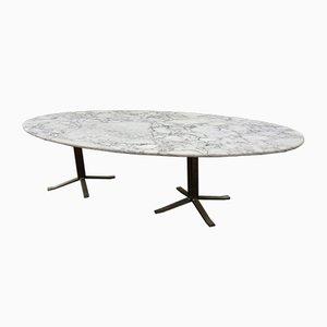 Ovaler Vintage Tisch aus Marmor von Osvaldo Borsani
