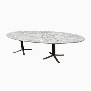 Vintage Marble Oval Table by Osvaldo Borsani
