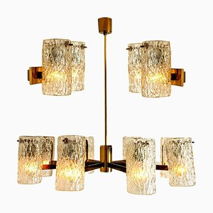 Bubble Glass Wall Sconces from Hillebrand, 1960s, Set of 3