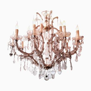 Maria Theresa 13-Light Chandeliers, Italy, 1960s, Set of 2