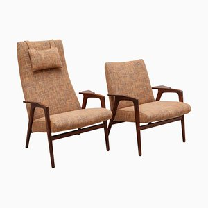 Rosewood Ladies & Gentleman Chairs by Yngve Ekström & Alf Svensson for Pastoe, 1950s, Set of 2