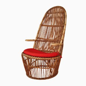 Rattan Lounge Chair from Mondesi, 1950s