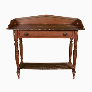 Original Paint Side Table, 1830s