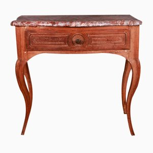 French Serpentine Front Side Table, 1790s
