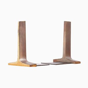 Modernist Bronze Bookends by Ben Seibel, USA, 1950s, Set of 2