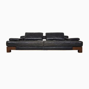 Mid-Century Modern Leather & Wenge Sofa or Daybed, 1960s