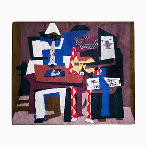 Large Wool Musicos con Mascaras Tapestry after Pablo Picasso, 1994