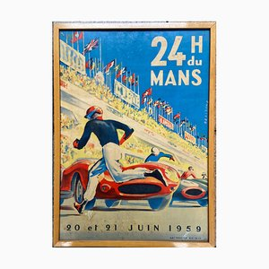 24h du Mans Poster by Michel Beligond, 1959