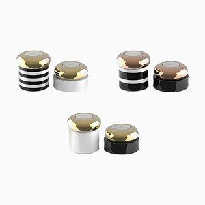 Ceramic Candleholders, Set of 2