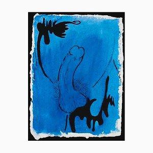 Sin título - Original Ink and Watercolor de Keith Haring - 1986 1986