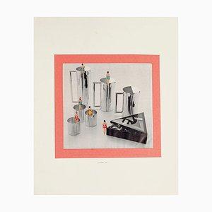 Composition - Original Collage by Sergio Barletta - 1975 1975