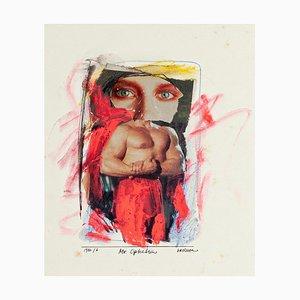 Mr. Ophelia - Original Collage and Tempera by Sergio Barletta - 1986 1986