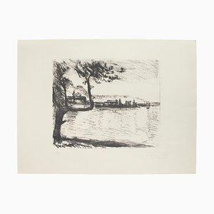 Landscape - Original Lithograph by Arturo Tosi - 20th Century 20th Century