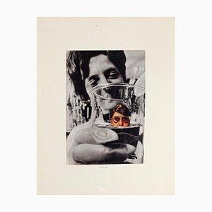 Woman in Measuring Container - Original Collage by Sergio Barletta - 1975 1975