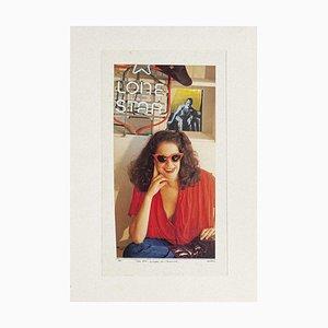 Lone Star - Original Collage by Sergio Barletta - 1987 1987