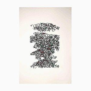 Abstract Composition - Original Serigraph by Antonio Sanfilippo - 1971 1971