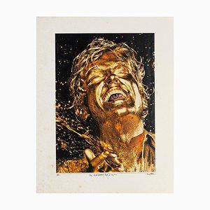 The Eye Eater Pop Singer - Original Collage von Sergio Barletta - 1981 1981