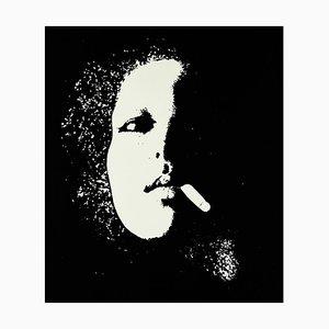 Portrait - Original Black and White Screen Print by Giacomo Porzano - 1974 1974