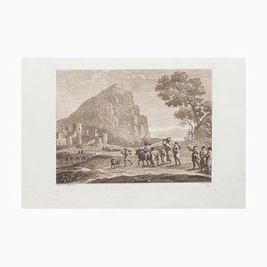 Landscape - Radierung und Aquatinta auf Papier von L. Caracciolo After C. Lorrain 1815