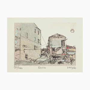 Workshop - Original Lithograph on Paper by Giuseppe Megna - 1980 ca. 1980 ca.