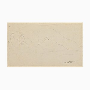 Nude - Original Pen on Paper by Angelo Sabbatini - 20th Century 20th Century
