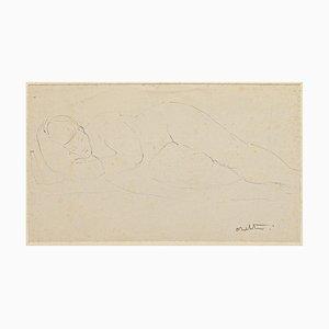 Nude - Original Pen on Paper von Angelo Sabbatini - 20th Century 20th Century