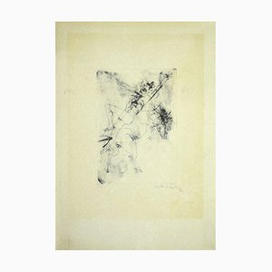 Rider - Original Etching On Paper by Alessandro Kokocinski - 1972 1972
