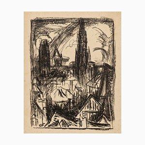 City of Rouen - Original Lithograph on Paper by Othon Friesz - 1923 1923