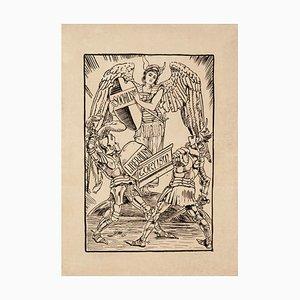 Political Satire - Original Holzschnitt Papier von Unknown British Artist - Late 1800 Late 19th Century
