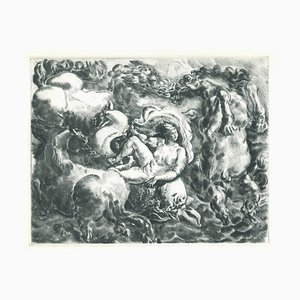 The Birth of Europe - Original Etching on Paper - 20th Century 20th Century