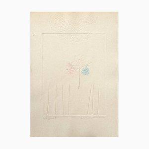 Composition - Gravure à l'Eau-Forte sur Carton par Leo Guida - 1971 1971