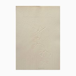 Composition - Original Etching and Embossing on Cardboard by Leo Guida - 1971 1971