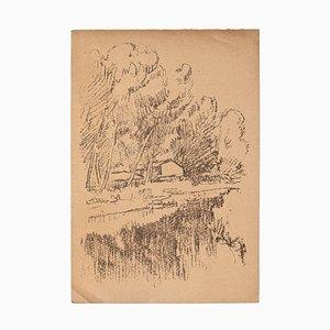 Landscape - Original Lithograph by Raffaele De Grada - 1946 1946