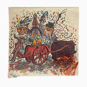 Cover for ''Il Selvaggio'' - Woodcut Print by Mino Maccari - 1920s 1920s