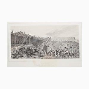 Battle Scene - Original Lithograph by Auguste Raffet - 1859 1859