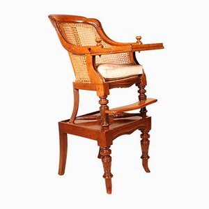 Antique Small Mahogany Childrens Chair