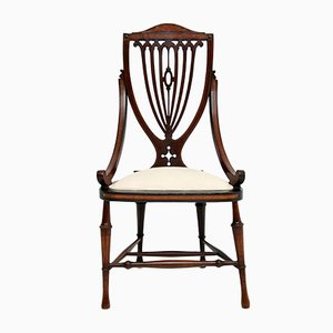 Antique Edwardian Inlaid Mahogany Side Chair