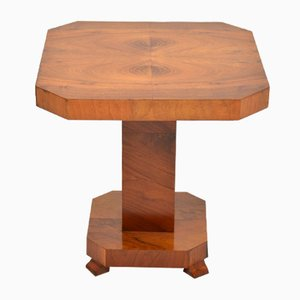 Art Deco Walnut Coffee Table, 1920s