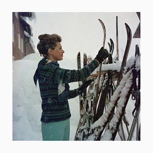 Skiing Princess Oversize C Print Framed in Black by Slim Aarons