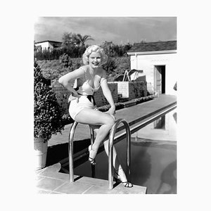 Beverly Hills Harlow Archival Pigment Print Framed in White by Everett Collection