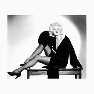 Glamorous Harlow Archival Pigment Print Framed in Black by Everett Collection