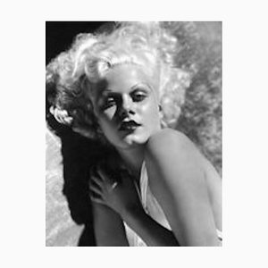 Striking Jean Harlow Archival Pigment Print Framed in White by Everett Collection