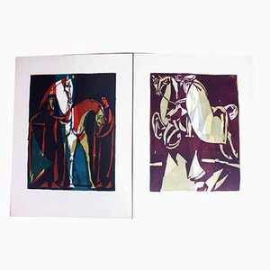 Prints by Hans Studer, 1976, Set of 2