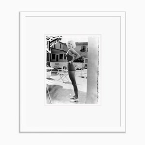 Jean Harlow by Her Pool Archival Pigment Print Framed in White by Everett Collection