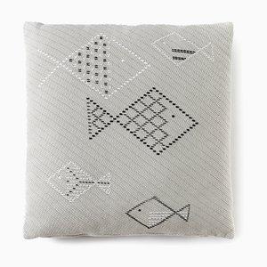 Pesci Jacquard Cushion by Paulina Herrera Letelier for Mariantonia Urru