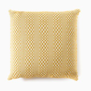 Optical Yellow Cushion from Mariantonia Urru